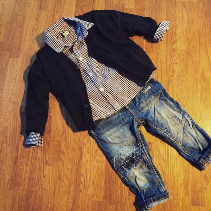 Gilet et chemise Tape à l'oeil, jean Zara